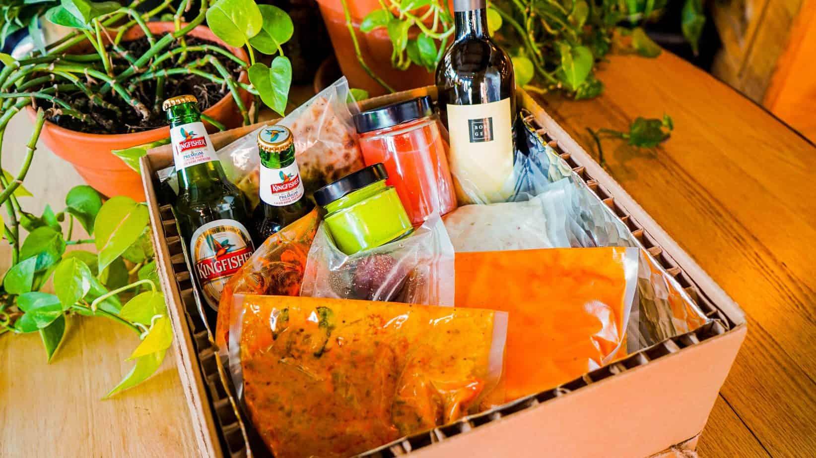 Boîte-Repas La Semaine indienne végétarienne du restaurant indien India Rosa