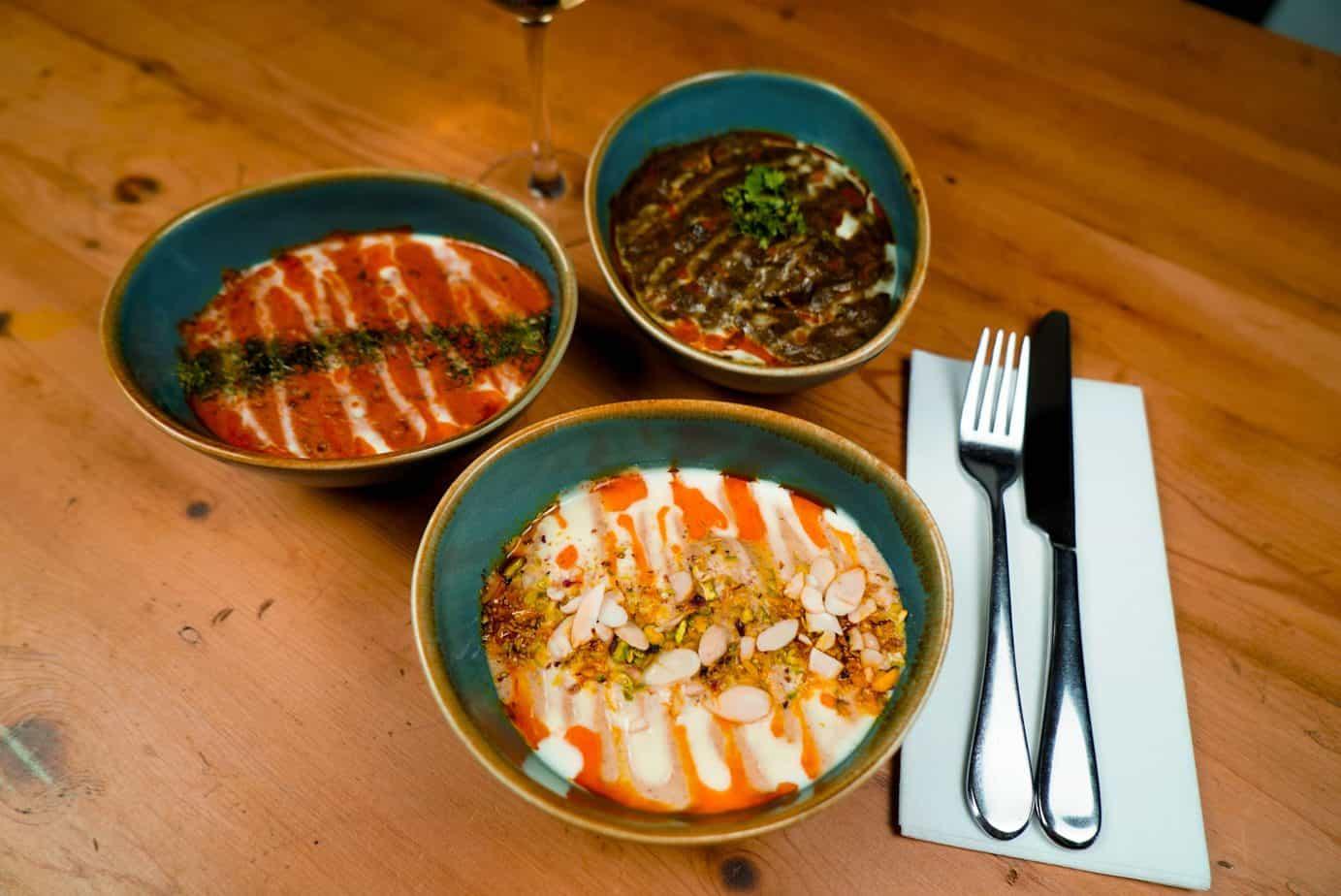 Malai Kofta, Dahl Makhani, Saag Paneer - un repas végétarien